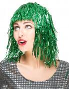Parrucca verde metallizzato donna