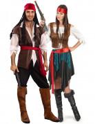 Costume coppia pirati deluxe