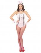 Costume coniglietta sexy con body rosa donna