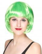Parrucca corta verde donna