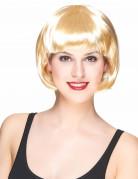 Parrucca corta bionda per donna
