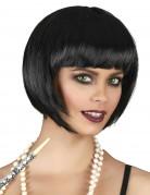 Parrucca corta nera donna