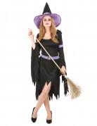 Costume da strega nera e lilla per donna