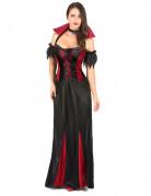 Costume abito lungo da vampiro donna Halloween