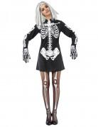 Travestimento da scheletro donna Halloween