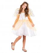 Costume angelo con ricami dorati per bambina