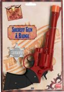 Pistola western e stella da sceriffo