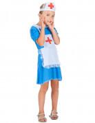 Costume da infermiera azzurro per bambina