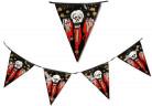 Ghirlanda bandierine cranio insanguinato Halloween