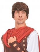 Parrucca castana da soldato romano uomo