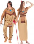 Costume beige coppia indiani adulto