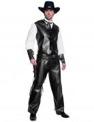 Costume cowboy con effetto pelle uomo