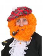 Parrucca da scozzese arancione adulto
