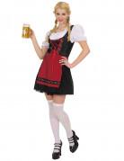 Costume da bavarese rosso e nero per donna