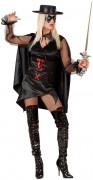 Costume da giustiziera mascherata per donna
