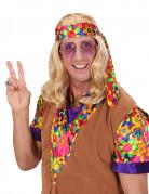 Parrucca bionda hippy adulto