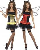 Costume coccinella reversibile ape donna