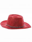 Cappello rosso cowgirl paillettato