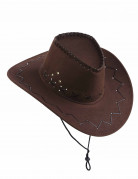 Cappello da cowboy marrone per adulto