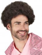 Parrucca disco marrone uomo
