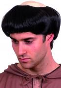 Parrucca da monaco capelli neri