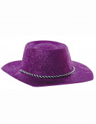 Cappello cowgirl viola donna