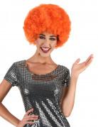 Parrucca afro/disco/clown arancione confort adulti