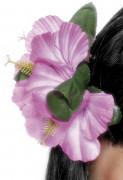 Fermaglio a fiori rosa
