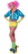 Costume da roller girl colori pop per adulto