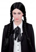 Parrucca lunga a trecce nere donna