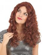 Parrucca lunga, riccia e rossa donna
