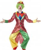 Costume clown con giaccada uomo