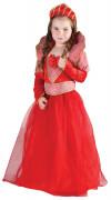 Costume regina rossa per bambina