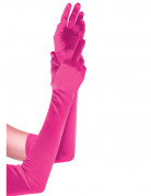 Guanti rosa lunghi donna