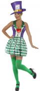 Costume da cappellaio folle per donna viola e verde