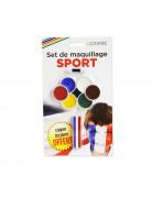 Trucco tifosi 7 colori e matita 3 in 1 con pennello