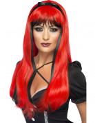 Parrucca rossa e nera donna