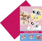 6 biglietti di invito Pet Shop™