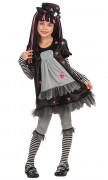 Costume gotico Black Dolly bambina