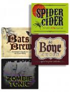 Etichette adesive per bevande Halloween