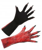 Guanti demone adulto Halloween