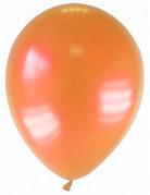 12 palloncini arancione metallizzato