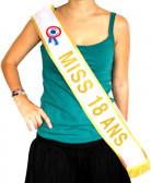 Sciarpa oro Miss 18 anni
