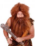 Parrucca con barba marrone adulto
