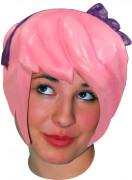 Parrucca lattice manga rosa adulto