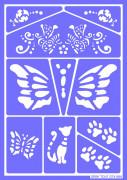 Mascherine trucco riutilizzabili Gatti e Farfalle Grim