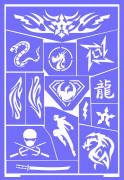 Mascherine trucco riutilizzabili Ninja Grim