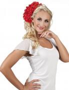 Cerchietto rosso a fiori