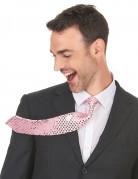 Cravatta a paillettes rosa adulto