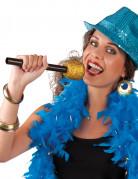 Microfono cantante dorato